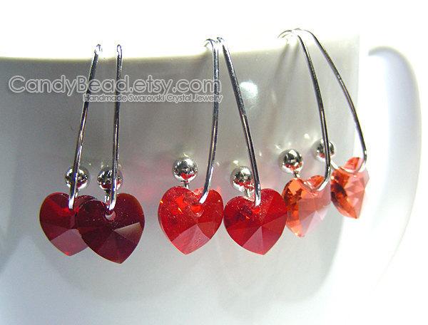 Swarovski earrings;crystal earrings;Swarovski Crystal Earrings, Genuine