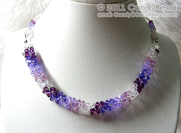 920b8a536 Crystal Necklace; Swarovski Necklace; Glass by candybead on Zibbet