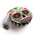 Measuring Tape Flowers Sugar Skulls on White Retractable Tape Measure