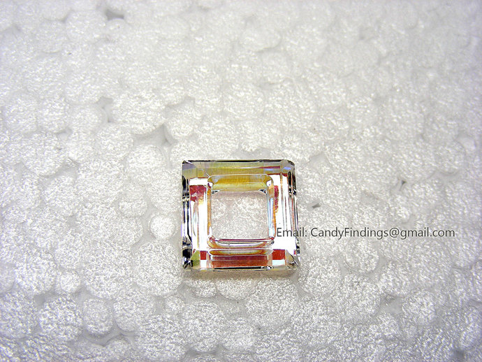 Crystal AB 14mm AAA High Quality Glass Square Beads