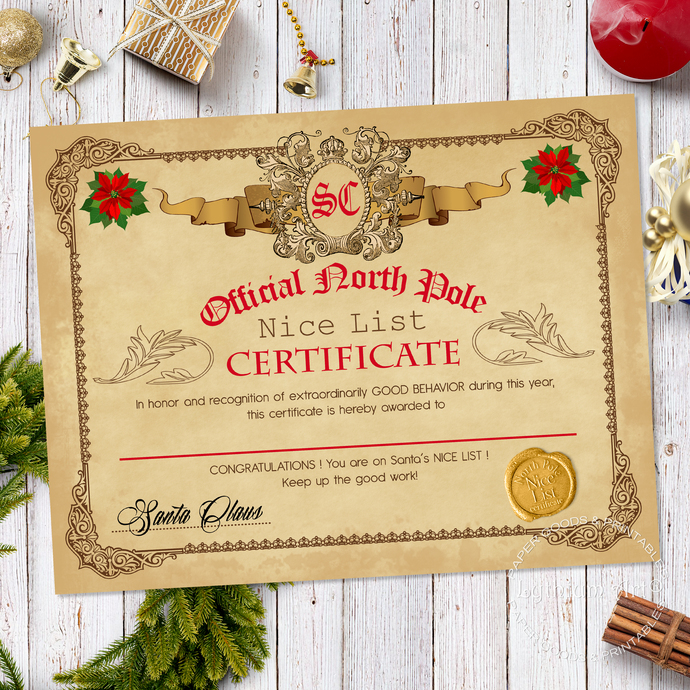 Naughty list letter from santa free professional resume a letter from santa without naughty or nice mummies waiting a letter from santa without naughty or nice instant naughty list certificate santa nice list spiritdancerdesigns Choice Image