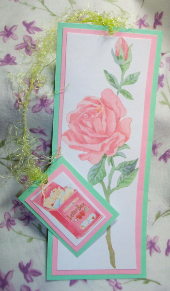 Romantic Rose bookmark