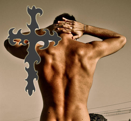 Fake Cross Tattoo by Temporary Tattoos on Zibbet