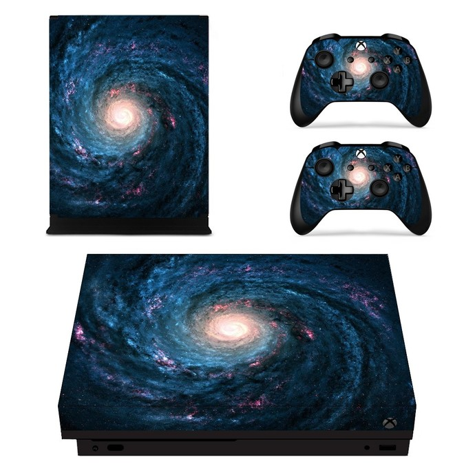 Whirlpool Galaxy xbox one X skin decal for console and 2 controllers
