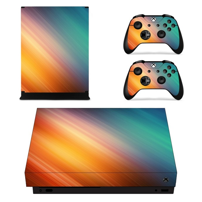 Gradient Design xbox one X skin decal for console and 2 controllers