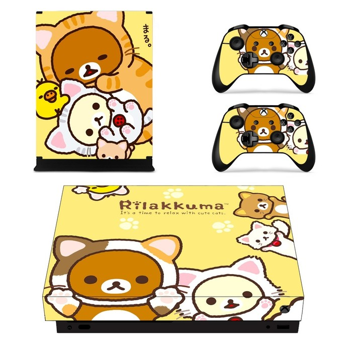 Rilakkuma xbox one X skin decal for console and 2 controllers