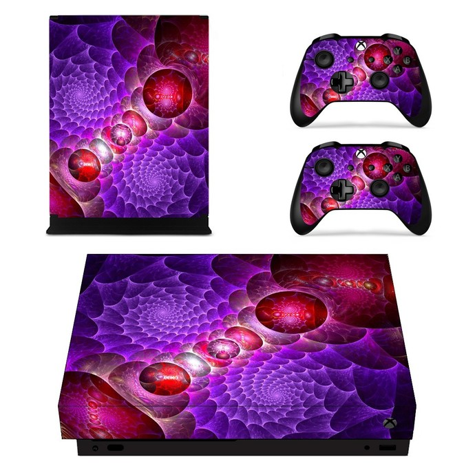 Custom Design xbox one X skin decal for console and 2 controllers