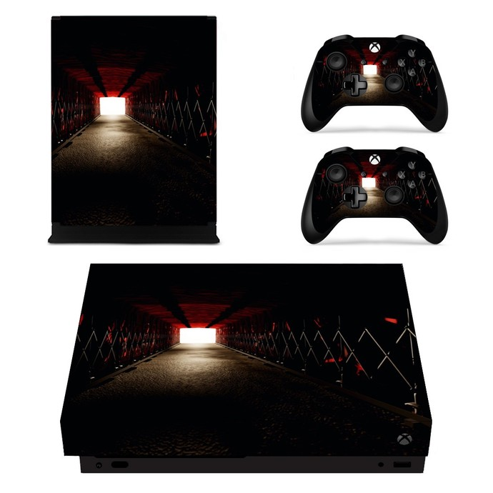 Tunel xbox one X skin decal for console and 2 controllers