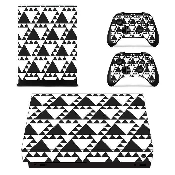 Geometric Pattern xbox one X skin decal for console and 2 controllers