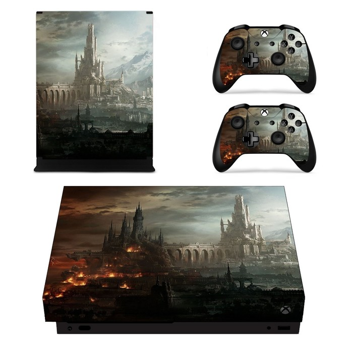 Warhammer 40k hive city xbox one X skin decal for console and 2 controllers