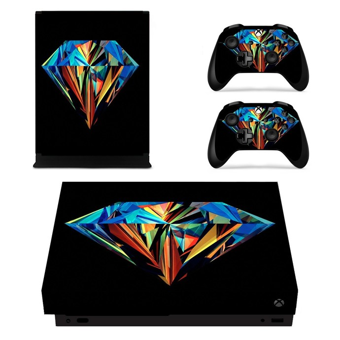 Colorful Dimond xbox one X skin decal for console and 2 controllers