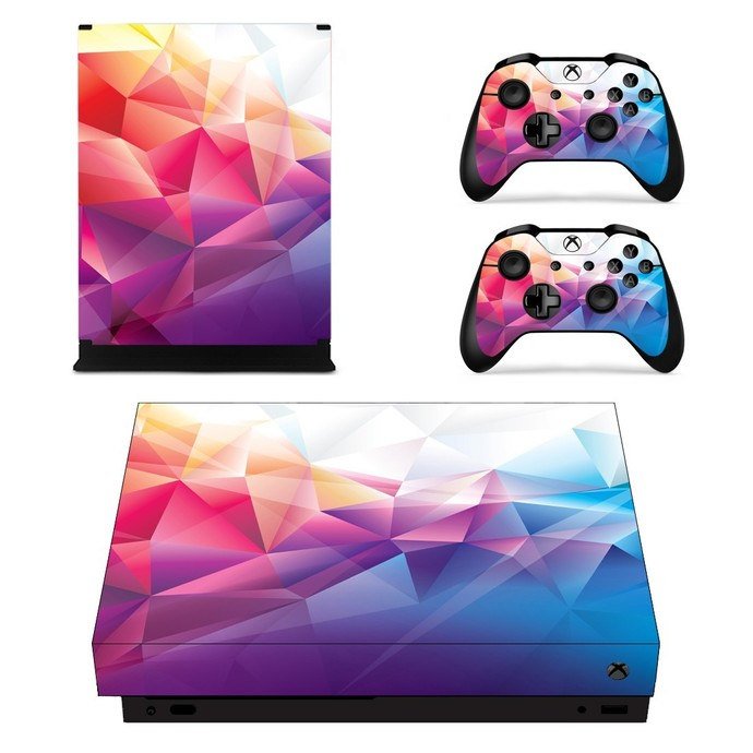 Abstract Design xbox one X skin decal for console and 2 controllers