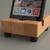 Butcher Block Style Device Holder iPhone Stand, iPhone Charging Dock, in