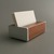 Wood and Metal Business Card Holder