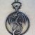 Antique Silver Metal Dragon Pendant