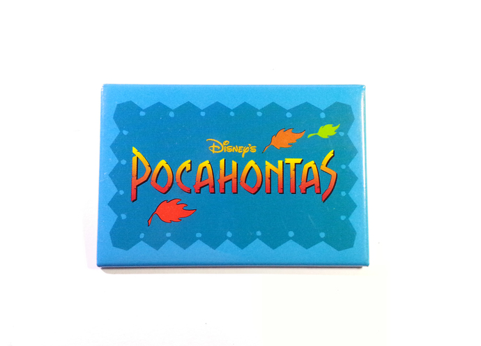 "1995 Disney's POCAHONTAS Movie Promo 3"" Button Pin Badge - Walt Disney"