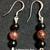 Garnet and Black Onyx Earrings