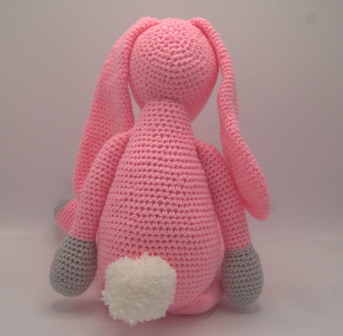 Pink Bunny Amigurumi/Stuff Animal Art/Toy