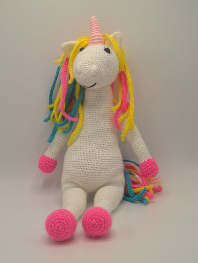 Unicorn Ballerina Amigurumi/Stuffed Animal/Crochet Fantasy Animal Art