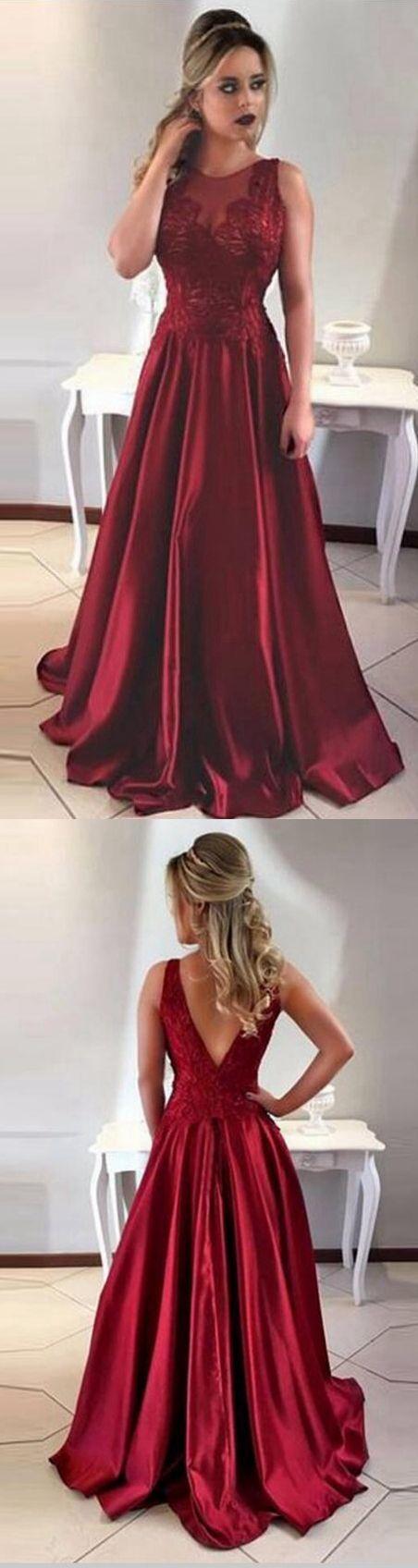 Sexy burgundy long prom dress, burgundy evening dress ,Long Prom Dress,Evening