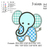 Little Elephant Applique embroidery design embroidery pattern No 621 ... 3 sizes