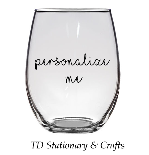 Custom Stemless Glass Wine Glass