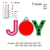 Joy Christmas Ornament Applique embroidery design ,embroidery pattern No 630.. 3