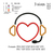 heart listening to music Applique embroidery design embroidery pattern No 632