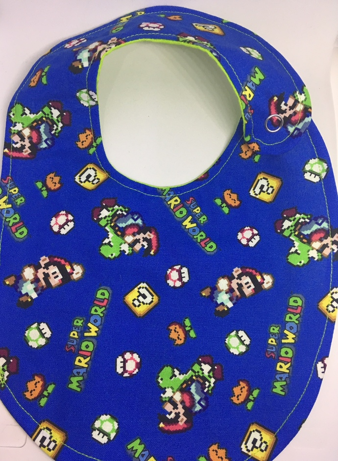 Adventures of Mario- Nerd Baby Bib