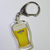 Heineken Beer Glass Double Sided Acrylic Keychain / Key Ring - New Unused