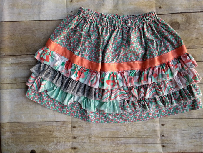 Toddler Ruffle skirt - 4T - ready to ship