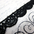 "1yd Venice Lace - 0.75"" White, Black stl"
