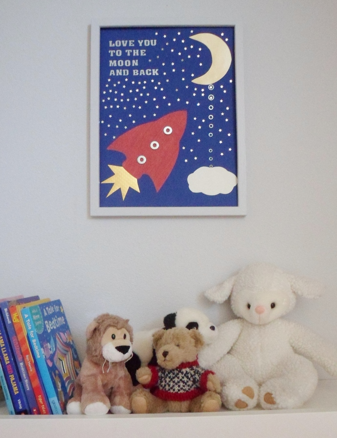 Love you to the moon and back! Wall art