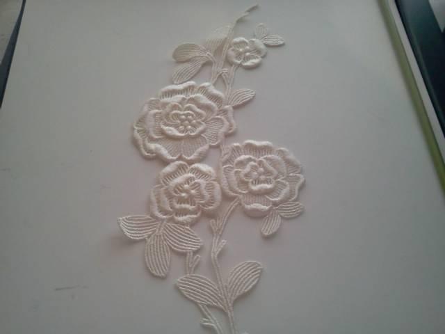 Cream Flower Applique
