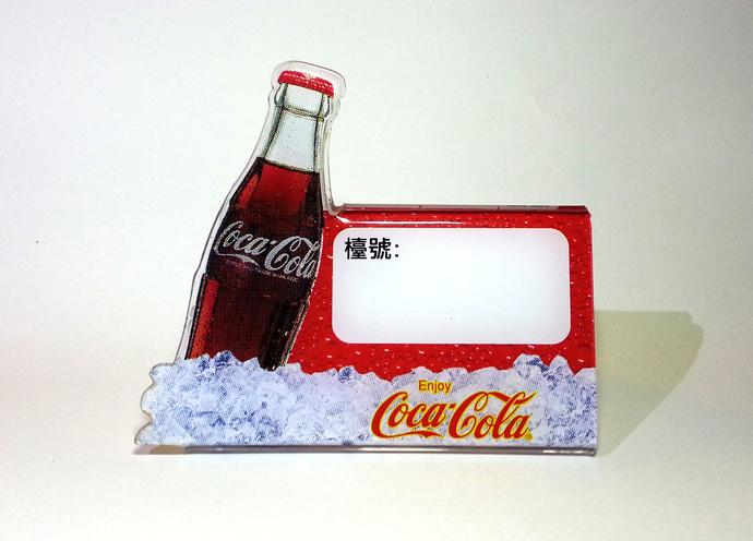Vintage Coca Cola Acrylic Restaurant Table Menu Holder Stand