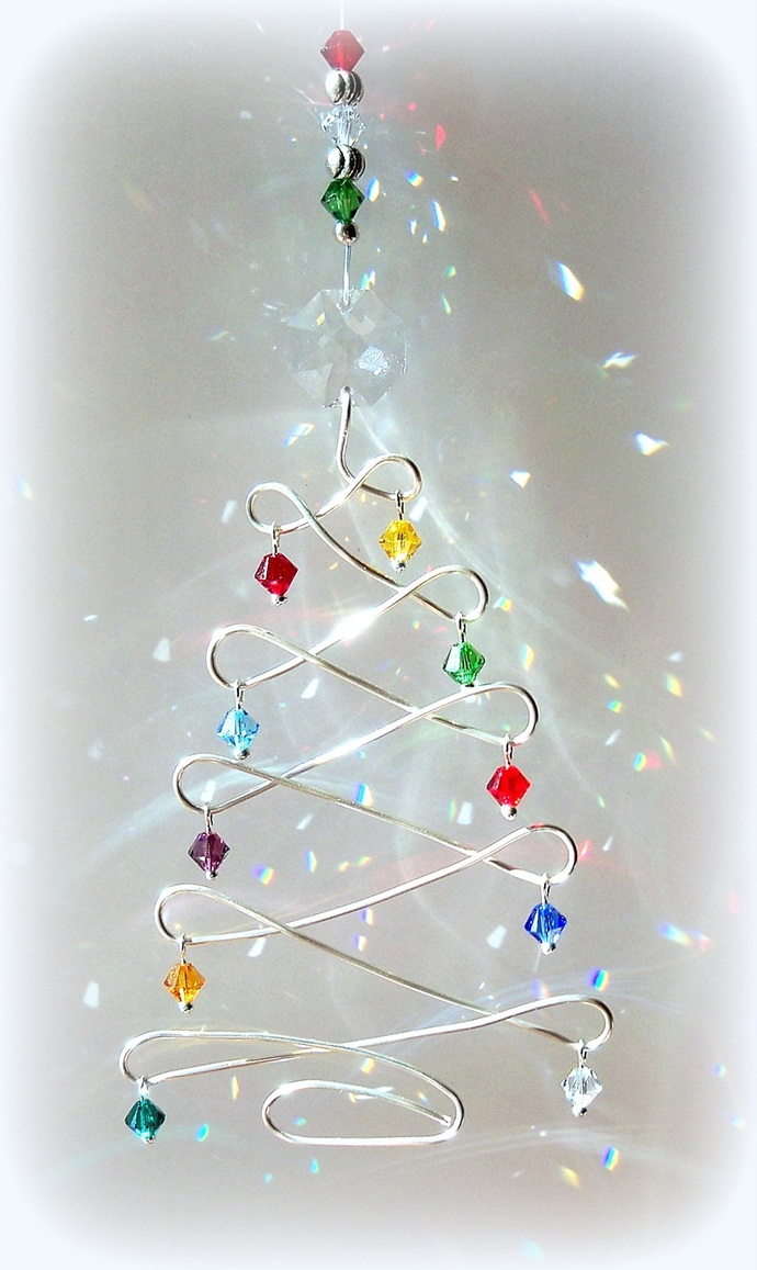 Custom Order for TB Sun Catcher Christmas Tree Fun