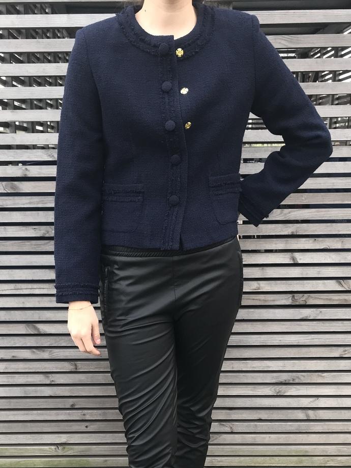 JACKET/SHORT/BOUCLE/chanel look/dark blue/designer PiiaMay/ design