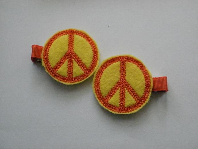 Peace Sign Clippies