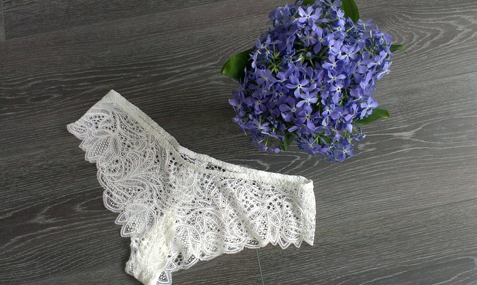Bridal Lace briefs F11 (White), Wedding lace panties, Bridal panties, Bridal
