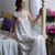 Long Silk Bridal Nightgown With Lace F2, Bridal Lingerie, Wedding Lingerie,