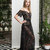 Long Black Lace Nightgown F26 (black), Bridal Black Lingerie, Wedding