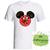 Christmas Mickey and Minnie mouse ears Christmas Iron on Transfer