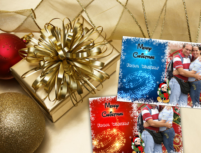 Digital Inspired Disney Christmas Card - Digital Disney Christmas