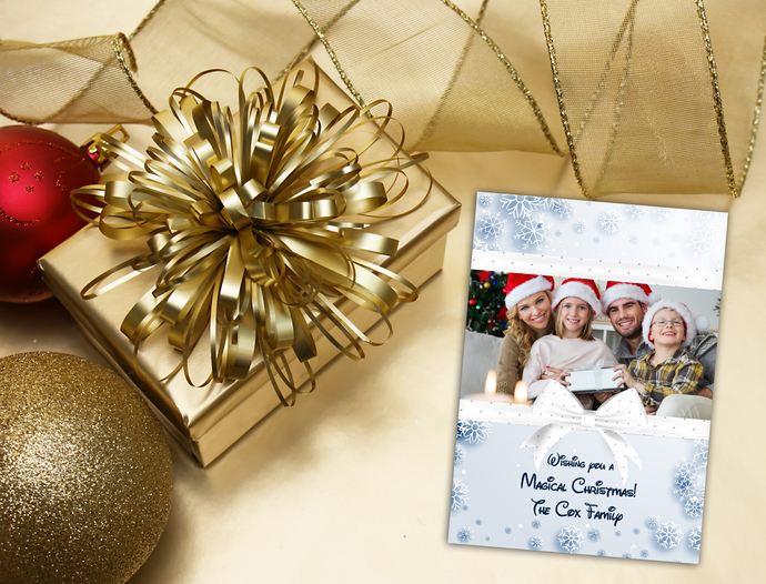 Digital Magical Christmas Card - Digital Disney Christmas Photo Greeting card