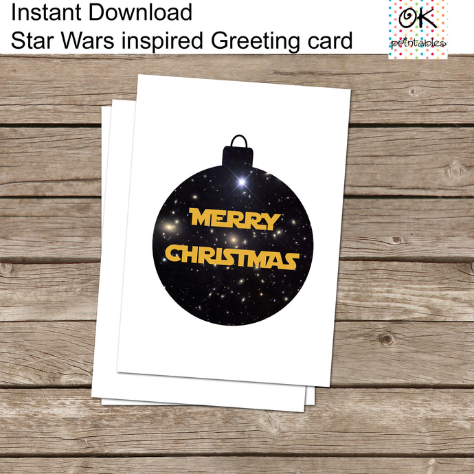Star Wars Christmas Card, Funny greeting card, postcard