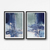 Digital print, room decor, digital image, Modern Contemporary Art , navy blue