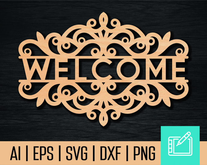 Bekend Welcome SVG file. Laser cutting files. Cnc by cncvector on Zibbet &VA71