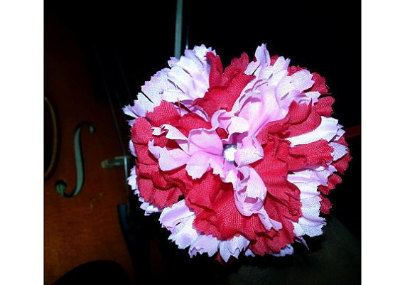Beautiful Red and Pink Flower Pen / with Heart Favor Tag