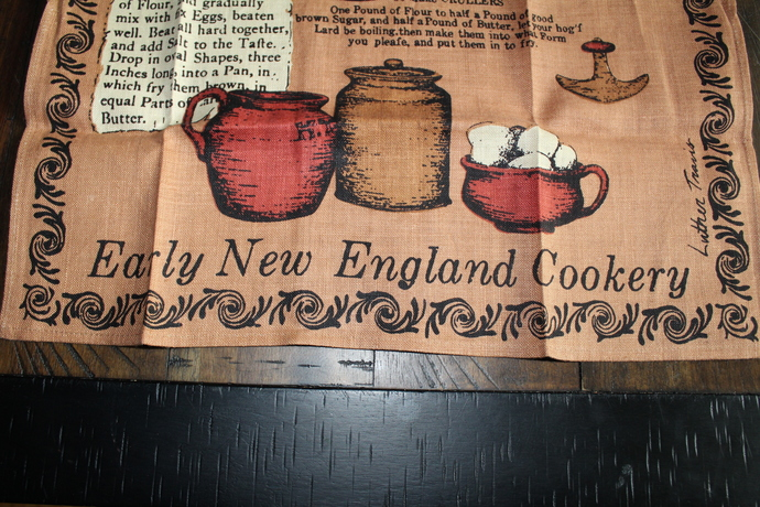 Vintage New Kay Dee With Tag- 100% Pure Linen Tea Towel – Early New England