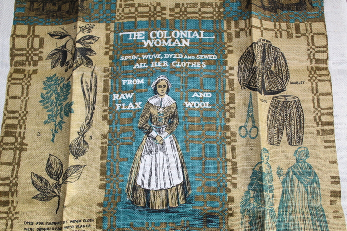 Vintage New Kay Dee With Tag- 100% Pure Linen Tea Towel - The Colonial Woman